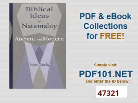 Biblical Ideas of Nationality Ancient and Modern