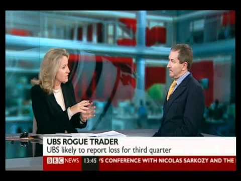 UBS trader loses £1.3bn - BBC News Channel - 15th September 2011