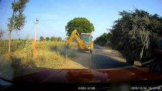 Tata Harrier -  went off the road multiple times during overtakes