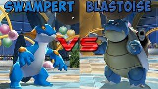 Pokemon battle revolution - Swampert vs Blastoise