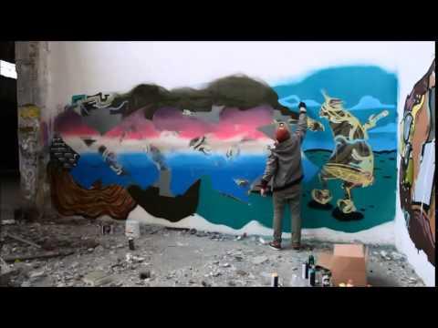 rats graffiti d sseldorf papierfabrik 2014 youtube. Black Bedroom Furniture Sets. Home Design Ideas