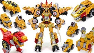 DinoCore Ultimate D Buster Tyranno 8 in 1 Dinosaur Combine Transformers Dinobot Car Toys