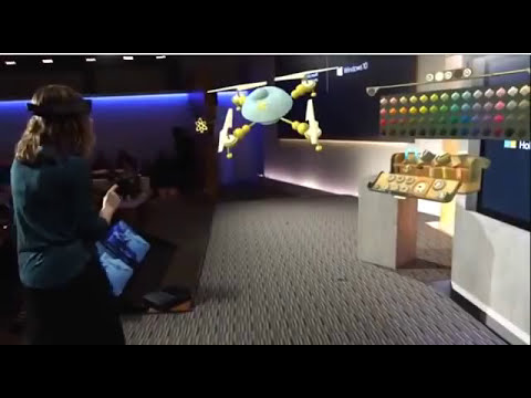Microsoft HoloLens - Live demo 2015 - Holograms - Windows 10