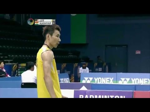 CRAZIEST BADMINTON RALLY- Lee Chong Wei vs P. Kashyap- INDIA OPEN 2014