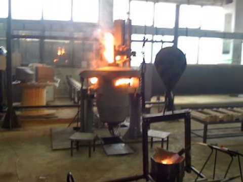 Ульяновск ЗТЛ №1 (Завод точного литья) запуск печи 1