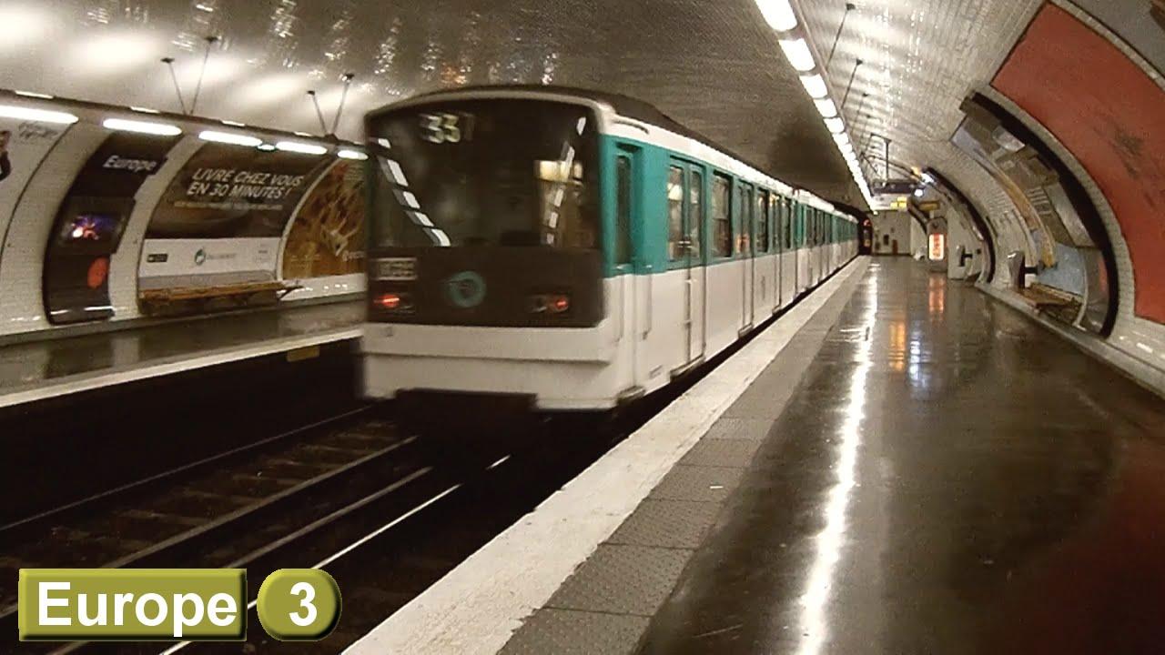 Paris métro : Europe | Line 3 ( RATP MF67 ) - YouTube