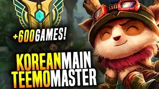 The Legendary Korean Teemo Main is Back! - Korean Master Teemo OTP with +700Games! | Korean Masters