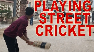 PLAYING STREET CRICKET! - DhoomBros