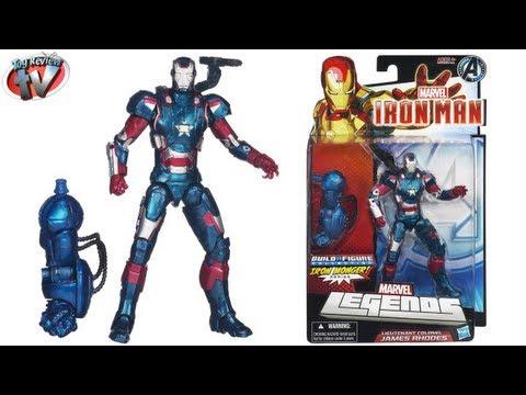 Marvel Legends Iron Man 3 Lieutenant Colonel James Rhodes Action Figure Toy Review. Hasbro