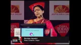 Bombay Jayashri mesmerises India Today Conclave 2013 audience with Life of Pi song