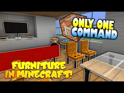Furniture In Minecraft | NO MODS! | Only One Command Block | Minecraft...