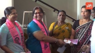 TRS Leader Jagadish Reddy's Wife Door to Door Campaign | Suryapet Politics