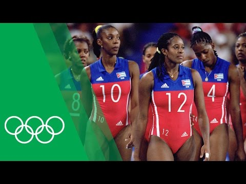 Yumilka Ruiz [CUB] On The Battle For Volleyball Gold At Sydney 2000