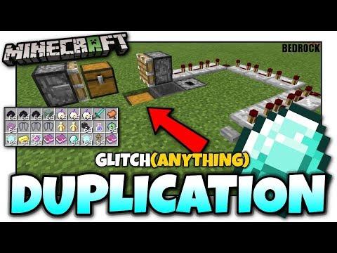Minecraft - DUPLICATION GLITCH [ Anything ] MCPE / Xbox / Bedrock / Windows 10