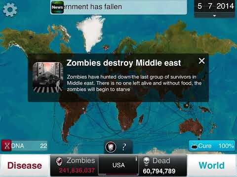 Plague inc. Necroa virus