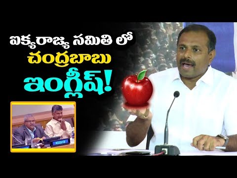 YCP Srikanth Reddy Talks about Chandrababu's English at UN Conference | YSRCP Vs TDP | Indiontvnews