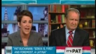 Pat Buchanan Racist Rant on Rachel Maddow Show