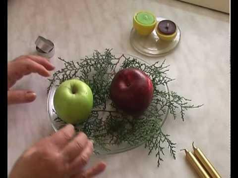 Karácsonyi gyertyatartó készítés természetes anyagokból