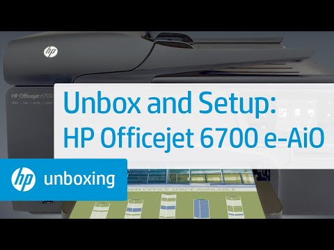 Unboxing and Setting Up the HP Officejet 6700 Premium e-All-in-One Printer