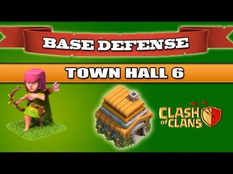 Clash of Clans - BEST Base Defense - Town Hall 6 - 1350 Trophies