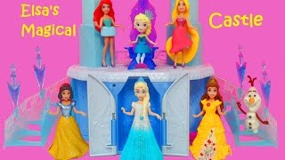 DISNEY FROZEN MAGICAL RISING CASTLE Disney Princess Toys Review | itsplaytime612