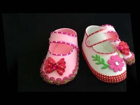 ZAPATITO PARA BABY SHOWER CON FOAMY  O GOMA EVA .