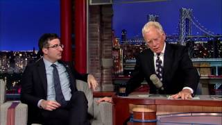 John Oliver Explains English Soccer to David Letterman HD