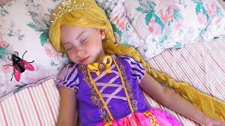 Alice Pretend Princess Rapunzel | Funny Stories by kids smile tv