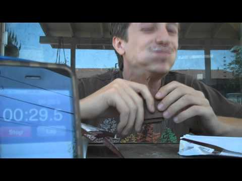 world record attempt - 3 chocolate bars 1 minute (7/21/11 #463)