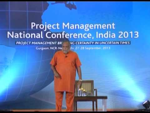 2013 | Project Management National Conference | Swami Sukhabodhananda | Pmi India video