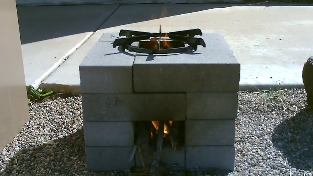 The 16 Brick Rocket Stove Quick 30 Second Build Easy