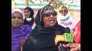 Aamina Waris Wadaadii Madaxweynaha iyo Raxan dumar ah oo ka Qayb Galay Dhul Xaadhkii Maanta