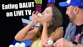 SOPHIE eats BALUT on GMA live! Philippines Street Food