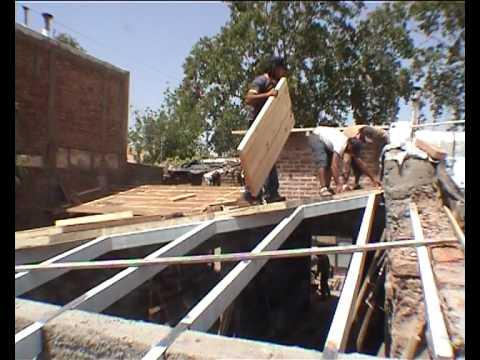 Como se construye un techo de dos aguas