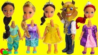 Disney Princess Belle Dances With Beast Ariel, Rapunzel, and Jasmine