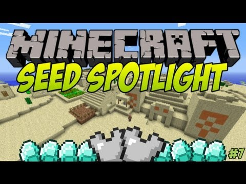 Minecraft 1.7.4 Seed Spotlight BIG VILLAGES TEMPLES AMAZING LOOTS #7
