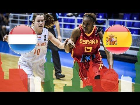 Netherlands v Spain - Full Game - Semi-Finals - FIBA U20 Women's European Championship 2018