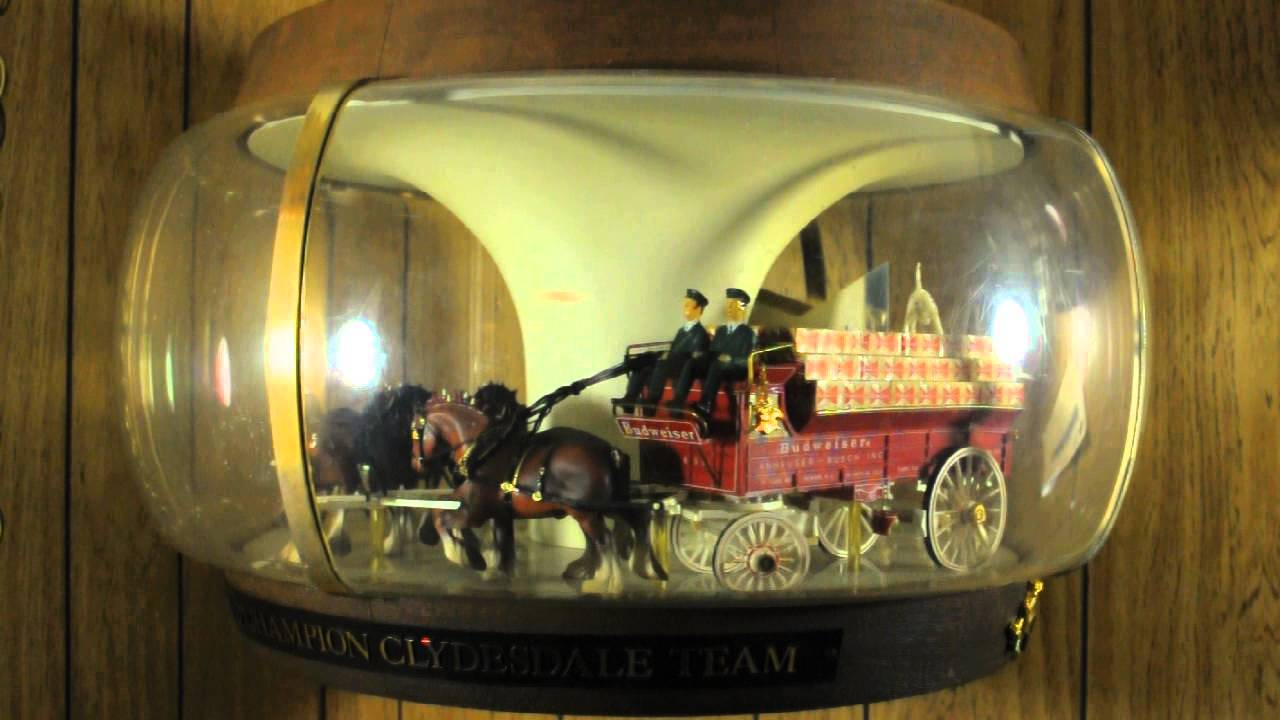 Budweiser Vintage Champion Clydesdales Carousel Parade Bar