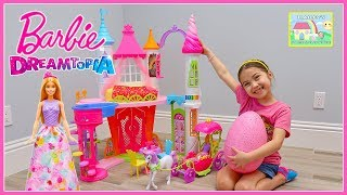 Big Barbie DreamTopia Castle Play, Chelsea, Unicorn Carriage & Kinder Eggs Surprise Toys Review