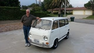 World's Cutest Van Ride Along. 1970 Subaru 360 Braves the Freeway!