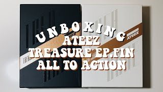 a crazy tragic unboxing of ateez ❝treasure ep. fin: all to action❞ (a & z versions)