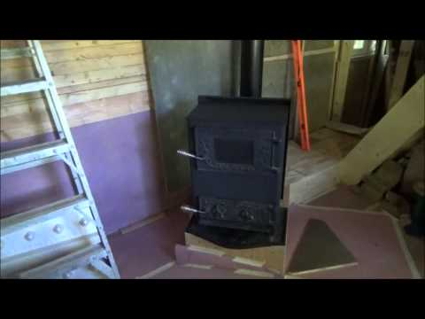 Testing Tiny Home Wood Stove And Finishing Kitchen Walls S31