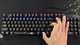 Red Dragon K208 Wired Led Colorful Backlit Blue Switch Mechanical Gaming Keyboard