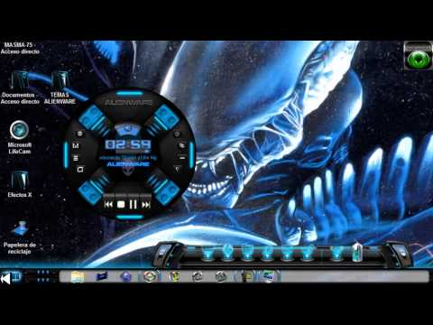 DESCARGAR 3 TEMAS WINDOWS 7 ALIENWARE INSPIRE CON REPRODUCTOR, GEOMETRIC, XENOMORPH.elwmv