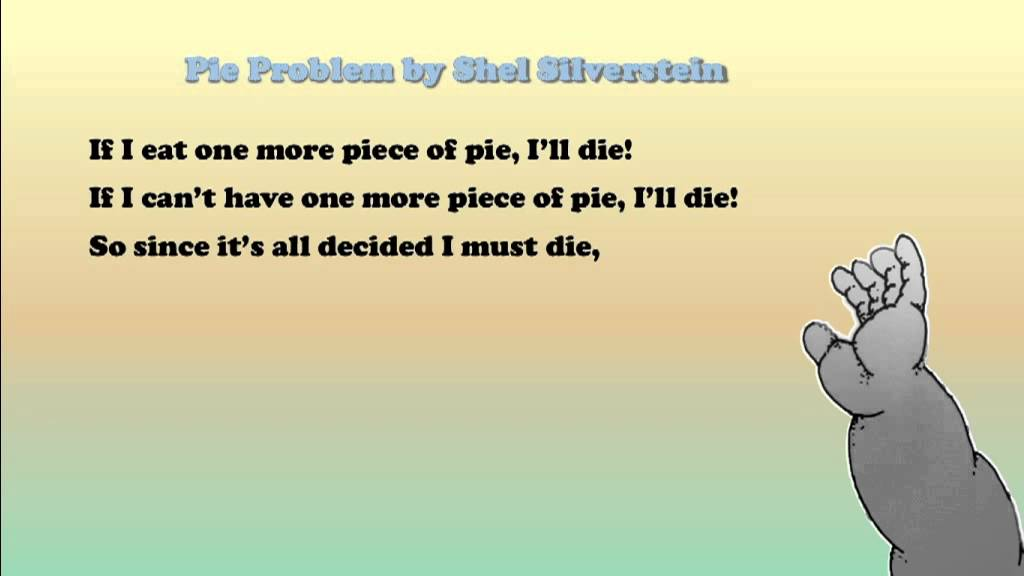 Pie Problem By Shel Silverstein Youtube