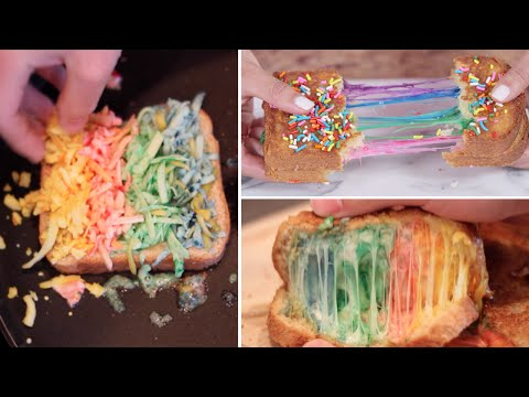 Rainbow Grilled Cheese Review- Buzzfeed Test #33