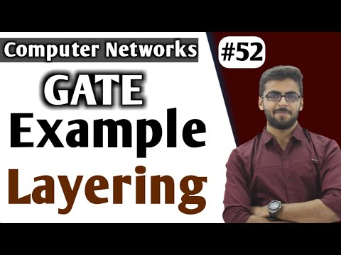 GATE Example Layering | Computer Networks GATE in HINDI | OSI Model | CN GATE Lectures Well Academy