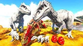 Meus Netinhos Nasceram, Família Indominus Rex Saindo Para Caçada! Ark Dino Evolved (PT/BR)