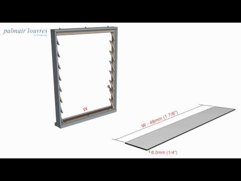 Breezway Palmair Louvre Window Installation Instructions