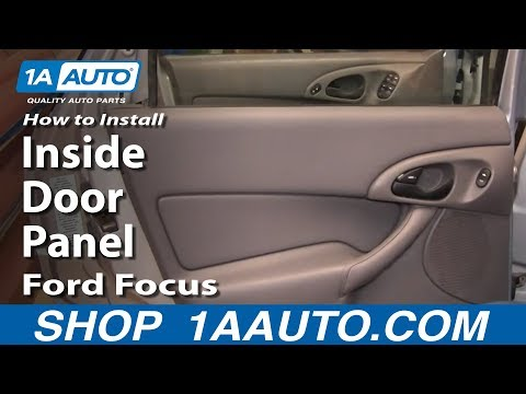 How To Install Replace Remove Rear Inside Door Panel Ford Focus 00-07 1AAuto.com